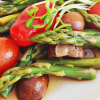 3 Italian Asparagus Mixed with Mushrooms * *