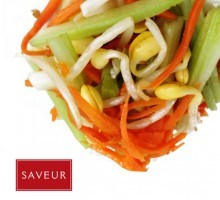 9 Bean sprouts, celery salad * * *
