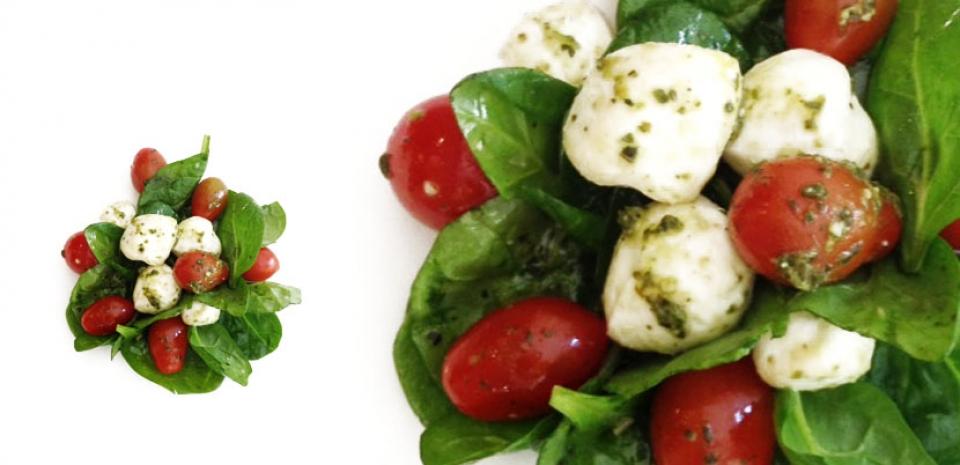 17 Tomato Basil Mozzarella Salad * *