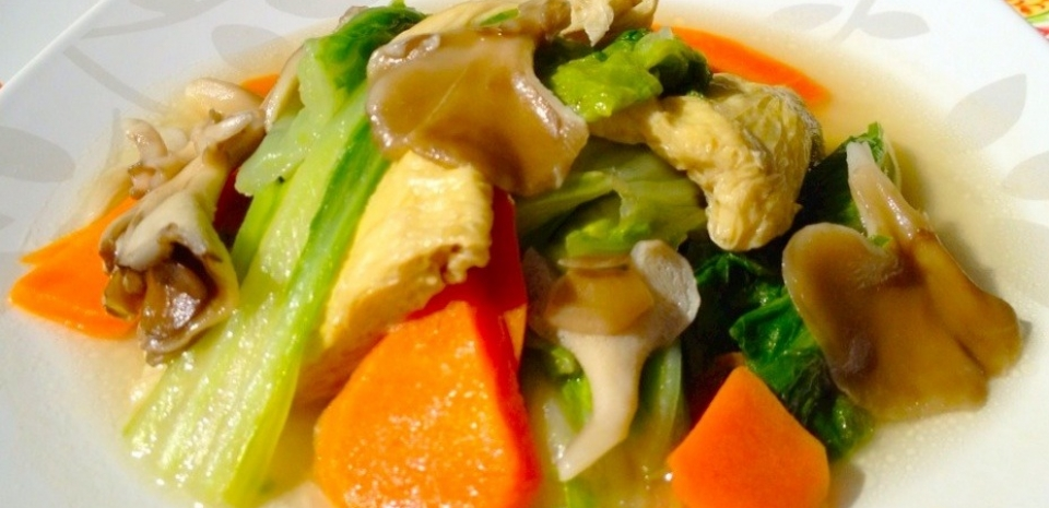 15 Braised Napa Cabbage with Tofu Sheets
