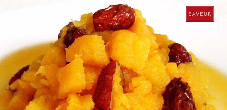 5 Glazed Red Dates with Kabocha Squash