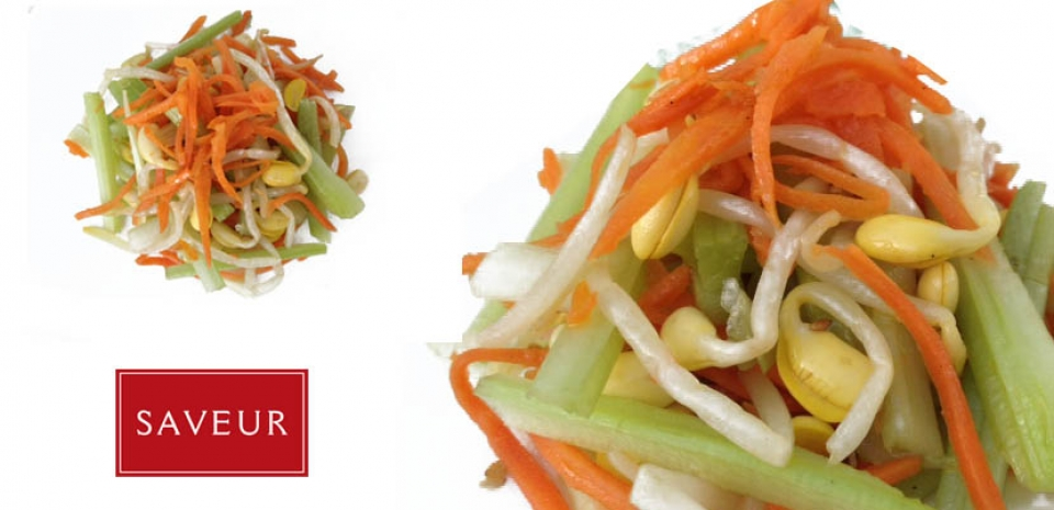 9 Bean Sprouts and Celery Salad * * *