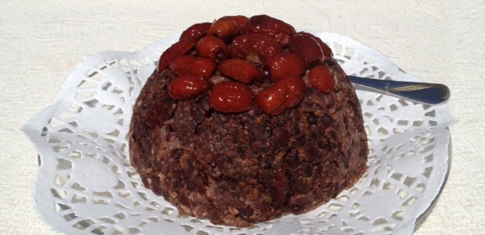 36 Steamed Red Date and Black Sticky Rice Cake