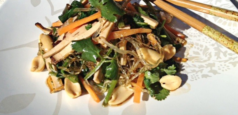 30 Cilantro and Dried Tofu Cellophane Noodles