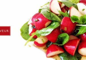 10 RADISHES AND LETTUCE SALAD * * *