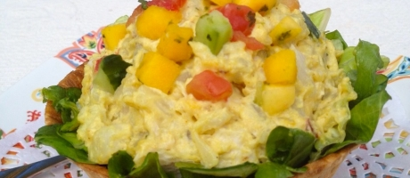 83 Curried Potato and Fruit Salad Cup