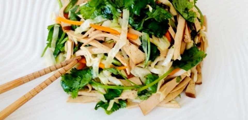 71 Dried Tofu and Cabbage with Cilantro