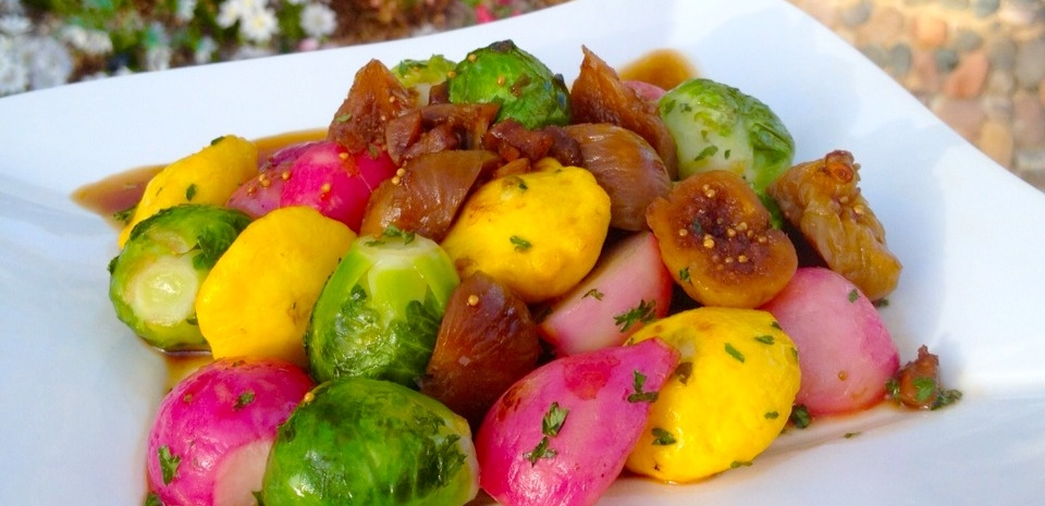 57 French-Style Figs and Summer Vegetables * * *