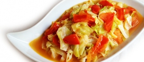 76 Braised Tomato and Cabbage