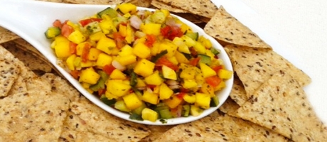 80 芒果沙沙醬沾墨西哥脆片