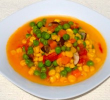 55 Braised Peas and Corn with Tomato * * *