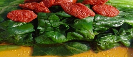 47 Cold Spinach with Goji Berry *