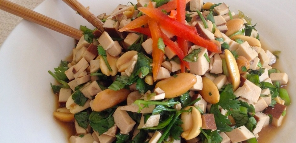 84 Cold Cilantro, Peanut, and Dried Tofu Salad * *