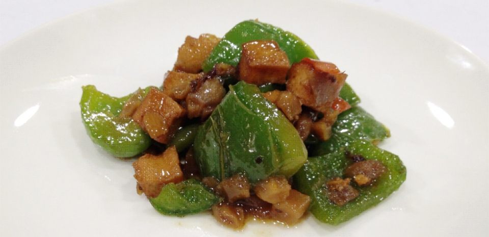 307 Stir Fried Bell Peppers and Dried Tofu in Black Bean Sauce