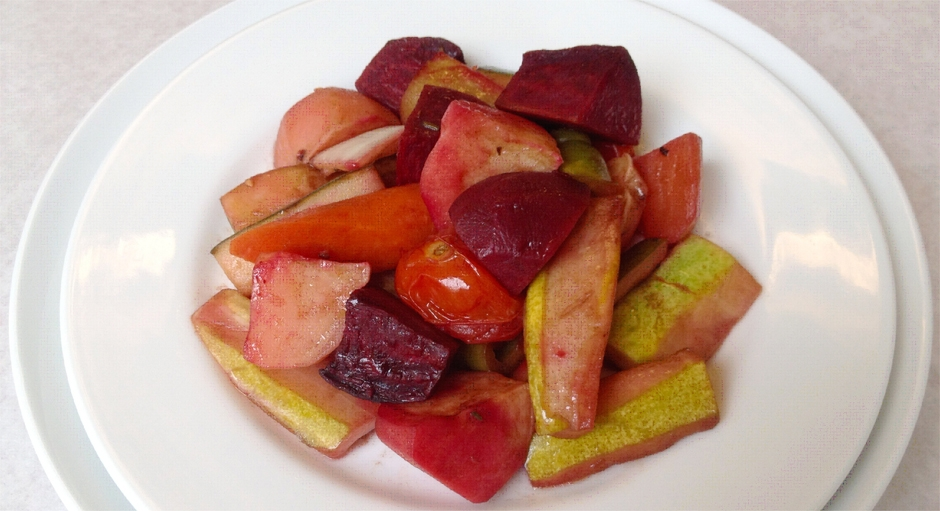 315 Sautéed Potatoes, Beets, and Carrots with Tomato