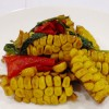 324 Sautéed Corn and Red Pepper with Basil