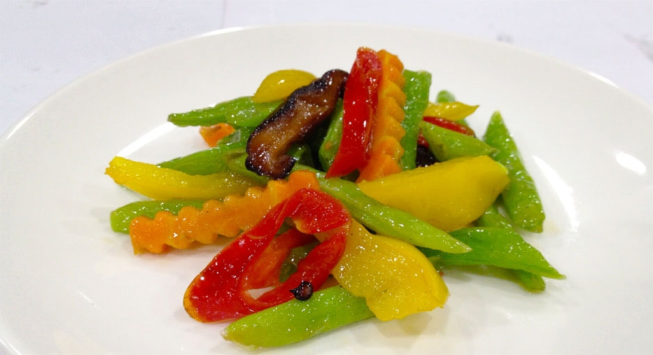 328 Stir Fried Bell Peppers with String Beans
