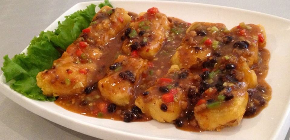 337 Crispy Tofu in Sweet Black Bean Sauce