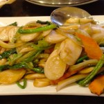347 Shanghai Stir Fried Sticky Rice Cakes with Mixed Vegetables
